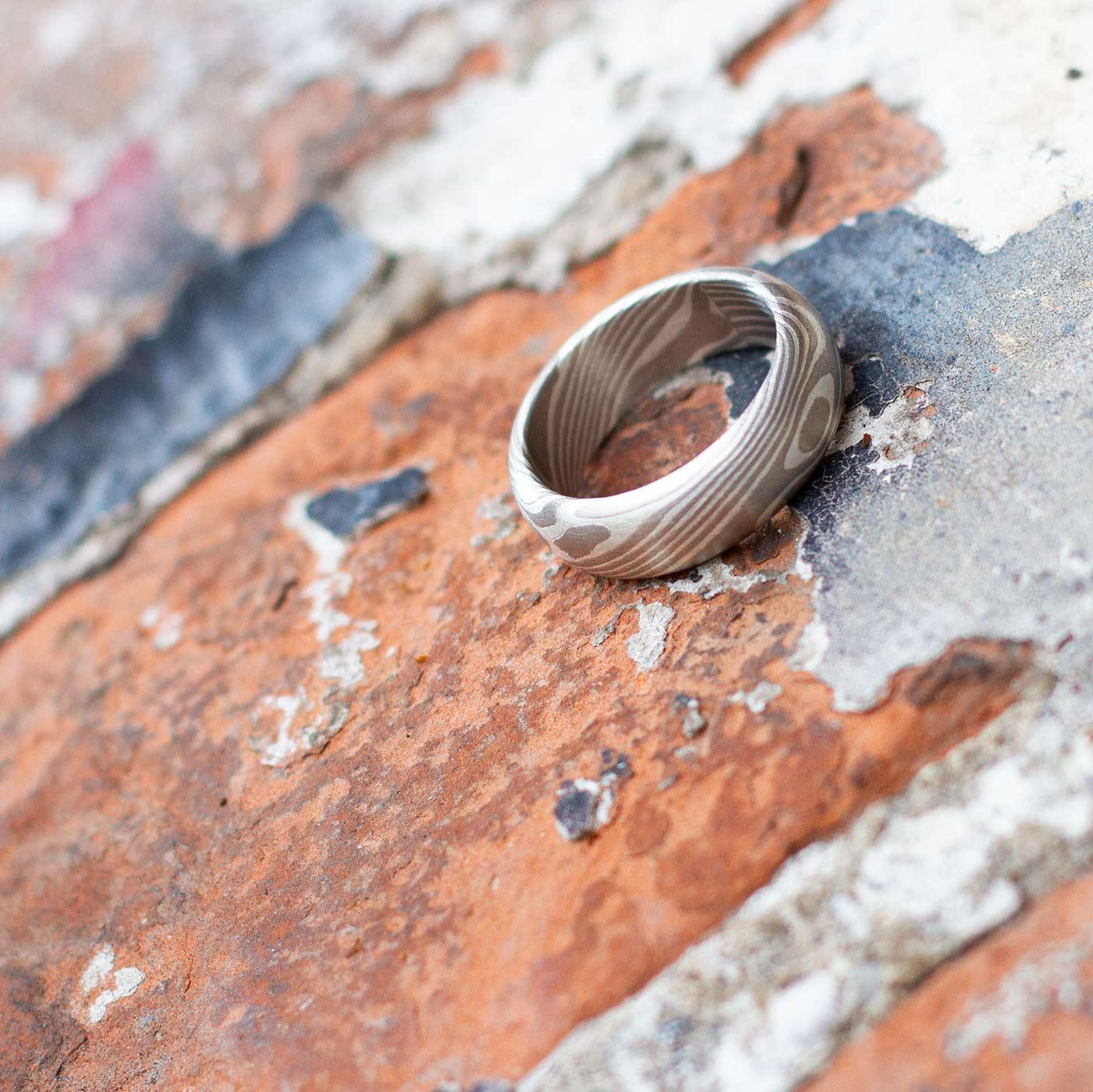 Mokume Gane Ring Silber Palladium