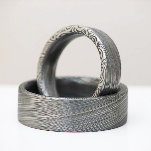 Oberfläche Ring Damast
